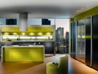 Ye�il Renk Mutfak Mobilyalar�