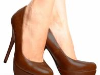 Kahverengi Topuklu Ayakkab�