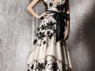 �i�ek Desenli Elbise Modelleri
