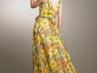 Çiçekli Yazlık Bayan Elbise Modelleri