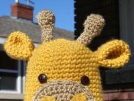 İnek Figürlü Bebek Şapkası Örneği
